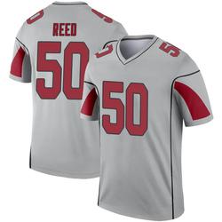 Men's Brooks Reed Arizona Cardinals Men's Legend Inverted Silver Nike Jersey