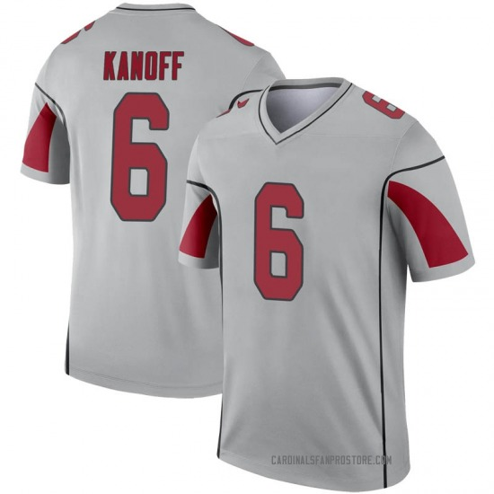 Men's Charles Kanoff Arizona Cardinals Men's Legend Inverted Silver Nike Jersey