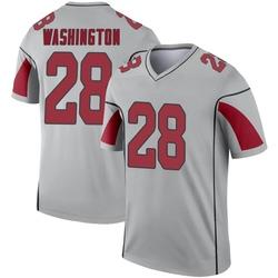 Men's Charles Washington Arizona Cardinals Men's Legend Inverted Silver Nike Jersey
