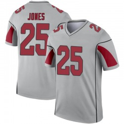 Men's Chris Jones Arizona Cardinals Men's Legend Inverted Silver Nike Jersey