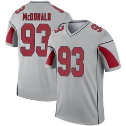 Men's Clinton McDonald Arizona Cardinals Men's Legend Inverted Silver Nike Jersey