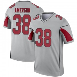 Men's David Amerson Arizona Cardinals Men's Legend Inverted Silver Nike Jersey