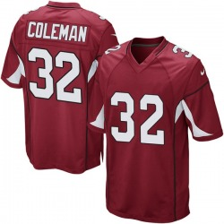 Men's Derrick Coleman Arizona Cardinals Men's Game Cardinal Team Color Nike Jersey