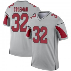 Men's Derrick Coleman Arizona Cardinals Men's Legend Inverted Silver Jersey