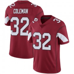 Men's Derrick Coleman Arizona Cardinals Men's Limited Cardinal 100th Vapor Jersey