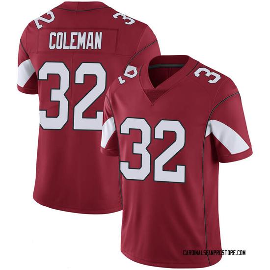 Men's Derrick Coleman Arizona Cardinals Men's Limited Cardinal 100th Vapor Nike Jersey
