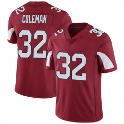 Men's Derrick Coleman Arizona Cardinals Men's Limited Cardinal Team Color Vapor Untouchable Nike Jersey