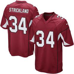 Men's Dontae Strickland Arizona Cardinals Men's Game Cardinal Team Color Nike Jersey