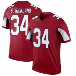 Men's Dontae Strickland Arizona Cardinals Men's Legend Cardinal Nike Jersey