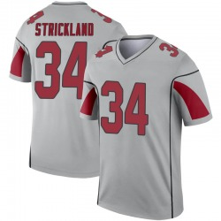 Men's Dontae Strickland Arizona Cardinals Men's Legend Inverted Silver Nike Jersey