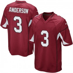 Men's Drew Anderson Arizona Cardinals Men's Game Cardinal Team Color Nike Jersey