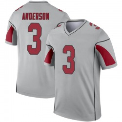 Men's Drew Anderson Arizona Cardinals Men's Legend Inverted Silver Nike Jersey
