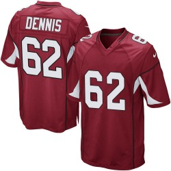 Men's Jackson Dennis Arizona Cardinals Men's Game Cardinal Team Color Nike Jersey