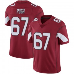Men's Justin Pugh Arizona Cardinals Men's Limited Cardinal 100th Vapor Nike Jersey