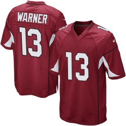 Men's Kurt Warner Arizona Cardinals Men's Game Cardinal Team Color Nike Jersey
