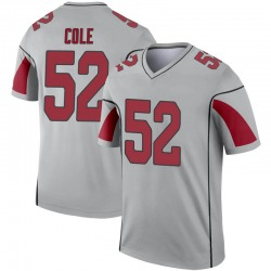Men's Mason Cole Arizona Cardinals Men's Legend Inverted Silver Nike Jersey