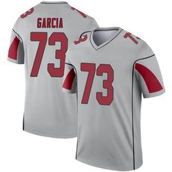 Men's Max Garcia Arizona Cardinals Men's Legend Inverted Silver Nike Jersey