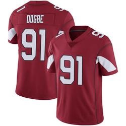 Men's Michael Dogbe Arizona Cardinals Men's Limited Cardinal 100th Vapor Nike Jersey