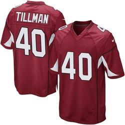 Men's Pat Tillman Arizona Cardinals Men's Game Cardinal Team Color Nike Jersey