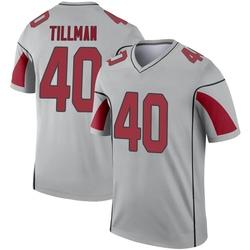 Men's Pat Tillman Arizona Cardinals Men's Legend Inverted Silver Jersey