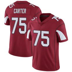 Men's T.J. Carter Arizona Cardinals Men's Limited Cardinal Team Color Vapor Untouchable Nike Jersey