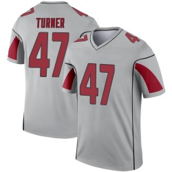 Men's Zeke Turner Arizona Cardinals Men's Legend Inverted Silver Nike Jersey