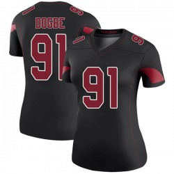 Michael Dogbe Arizona Cardinals Women's Color Rush Legend Nike Jersey - Black