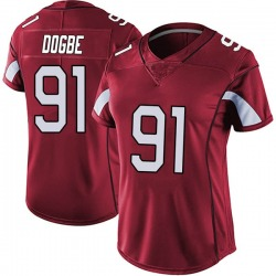 Michael Dogbe Arizona Cardinals Women's Limited Vapor Team Color Untouchable Nike Jersey - Red