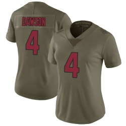 Phil Dawson Arizona Cardinals Women's Limited Salute to Service Nike Jersey - Green