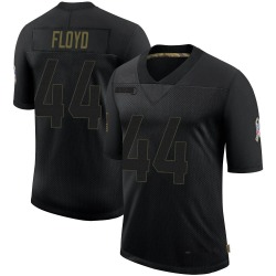 Reggie Floyd Arizona Cardinals Men's Limited 2020 Salute To Service Nike Jersey - Black