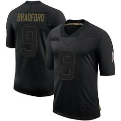 Sam Bradford Arizona Cardinals Men's Limited 2020 Salute To Service Nike Jersey - Black