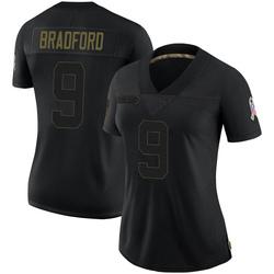 Sam Bradford Arizona Cardinals Women's Limited 2020 Salute To Service Nike Jersey - Black