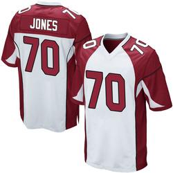 Sam Jones Arizona Cardinals Men's Game Nike Jersey - White