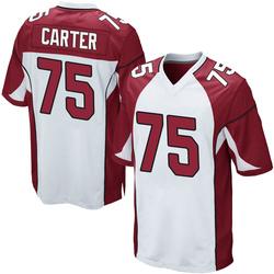 T.J. Carter Arizona Cardinals Men's Game Nike Jersey - White