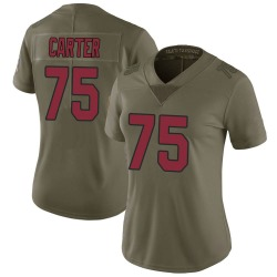 T.J. Carter Arizona Cardinals Women's Limited Salute to Service Nike Jersey - Green