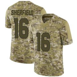 Trent Sherfield Arizona Cardinals Men's Limited 2018 Salute to Service Nike Jersey - Camo