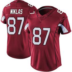 Troy Niklas Arizona Cardinals Women's Limited Vapor Team Color Untouchable Nike Jersey - Red