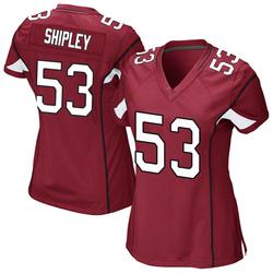 Women's A.Q. Shipley Arizona Cardinals Women's Game Cardinal Team Color Nike Jersey