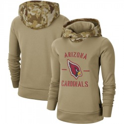 Women's Arizona Cardinals Khaki 2019 Salute to Service Therma Pullover Hoodie