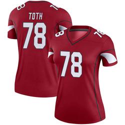 Women's Brett Toth Arizona Cardinals Women's Legend Cardinal Nike Jersey