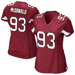 Women's Clinton McDonald Arizona Cardinals Women's Game Cardinal Team Color Nike Jersey