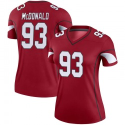 Women's Clinton McDonald Arizona Cardinals Women's Legend Cardinal Nike Jersey