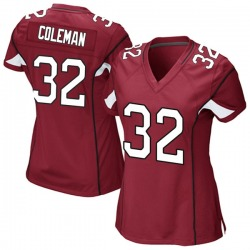 Women's Derrick Coleman Arizona Cardinals Women's Game Cardinal Team Color Nike Jersey