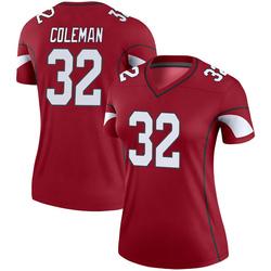 Women's Derrick Coleman Arizona Cardinals Women's Legend Cardinal Nike Jersey