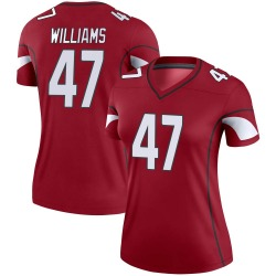 Women's Drew Williams Arizona Cardinals Women's Legend Cardinal Nike Jersey