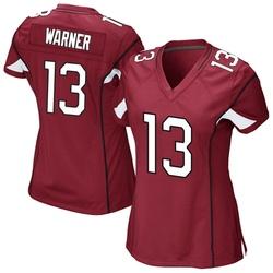 Women's Kurt Warner Arizona Cardinals Women's Game Cardinal Team Color Nike Jersey