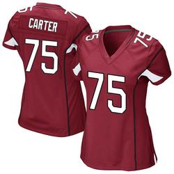 Women's T.J. Carter Arizona Cardinals Women's Game Cardinal Team Color Nike Jersey