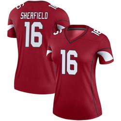 Women's Trent Sherfield Arizona Cardinals Women's Legend Cardinal Nike Jersey
