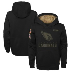 Youth Arizona Cardinals Black 2020 Salute to Service Pullover Performance Hoodie