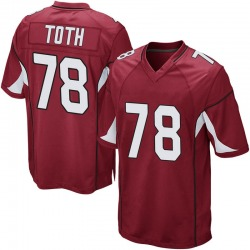Youth Brett Toth Arizona Cardinals Youth Game Cardinal Team Color Nike Jersey